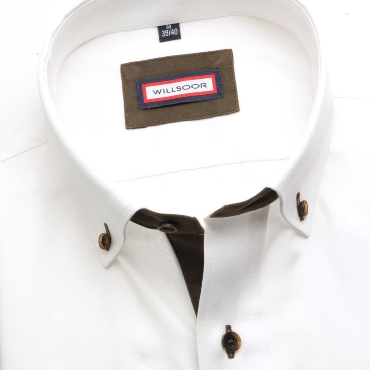 Pánská košile Slim Fit (výška 176-182) 5740 v bílé barvě 176-182 / XL (43/44)