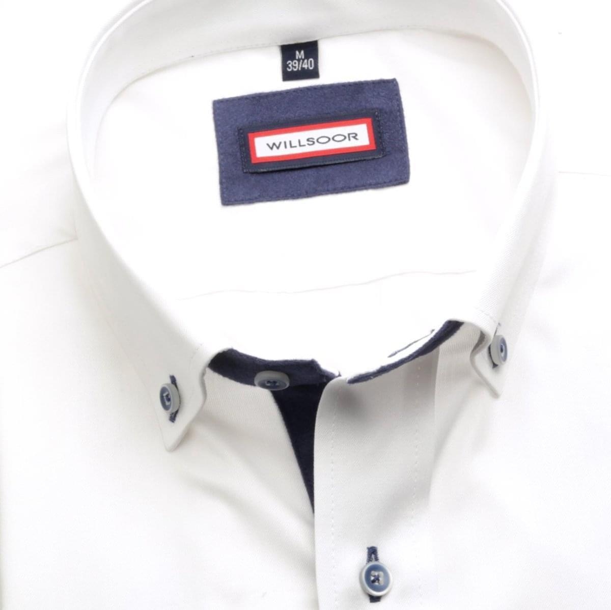 Pánská košile Slim Fit (výška 176-182) 5742 v bílé barvě 176-182 / XL (43/44)