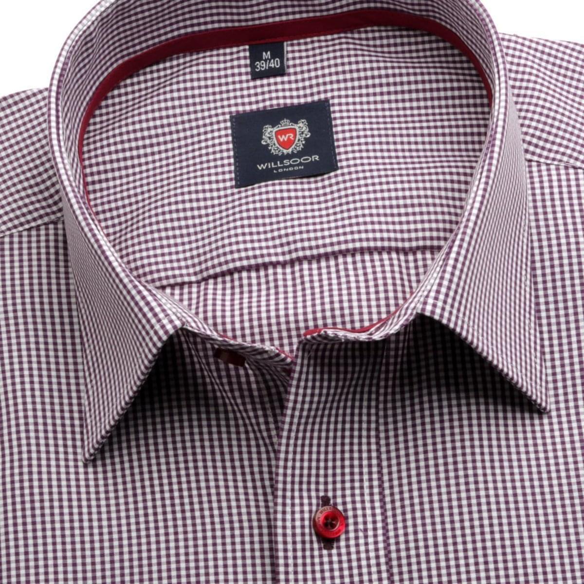 Pánská košile London (výška 176-182) 5870 s kostkou 176-182 / XL (43/44)