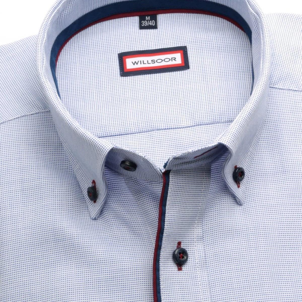 Pánská košile Slim Fit (výška 164-170) 5884 v modré barvě 164-170 / XL (43/44) 176-182 / XL (43/44)