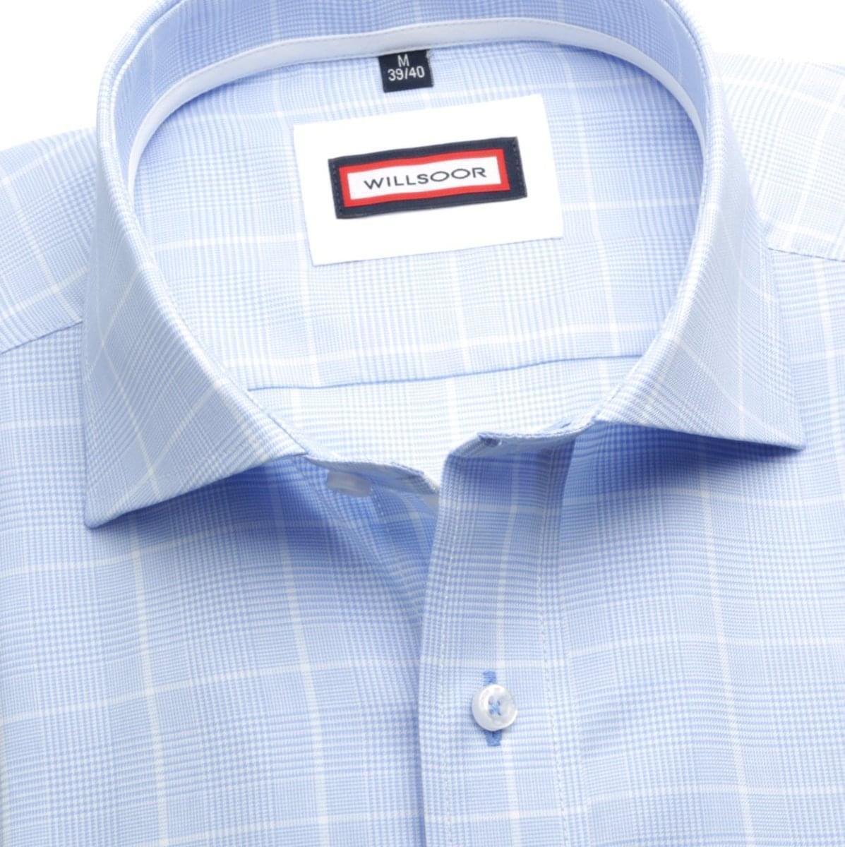 Pánská košile Slim Fit (výška 164-170) 5919 v modré barvě s formulí Easy Care 164-170 / M (39/40)