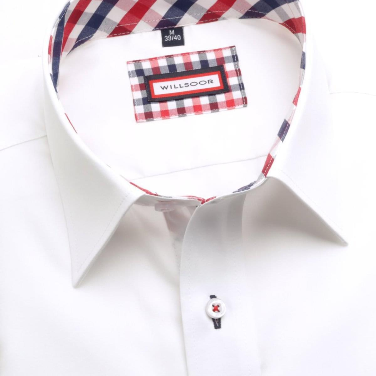 Pánská Slim Fit košile (výška 176-182) 5937 v bílé barvě s formulí Easy Care 176-182 / M (39/40)