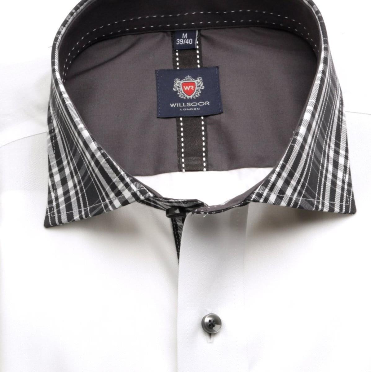 Pánská klasická košile London (výška 188-194) 5945 v bílé barvě s formulí 2 W Plus 188-194 / XXL (45/46)