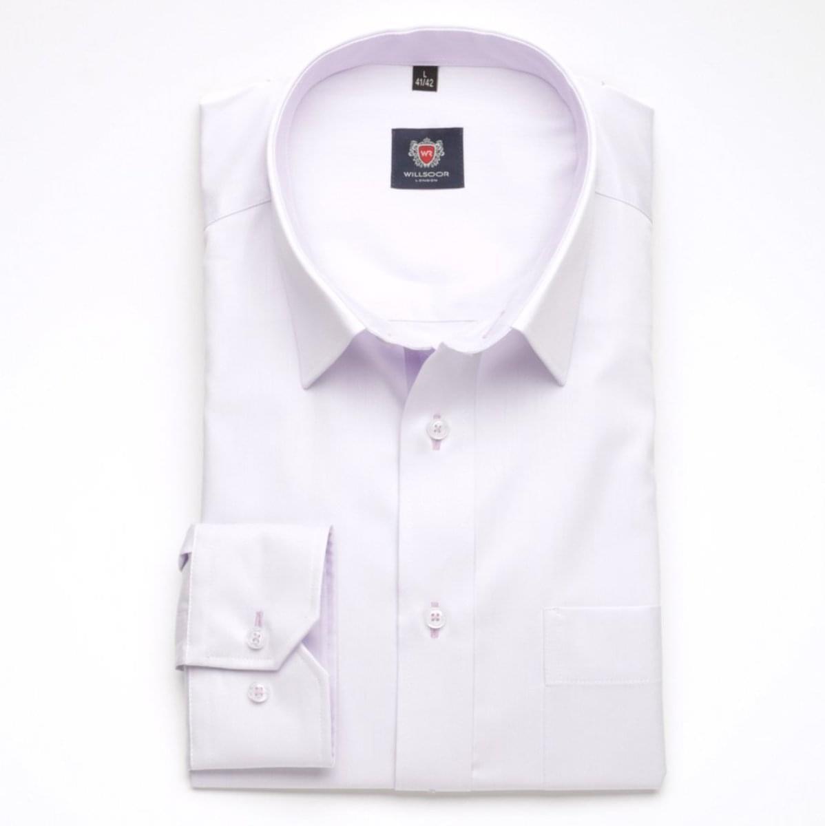 Pánská klasická košile London (výška 164-170) 5949 ve fialkové barvě s formulí Easy Care 164-170 / L (41/42)