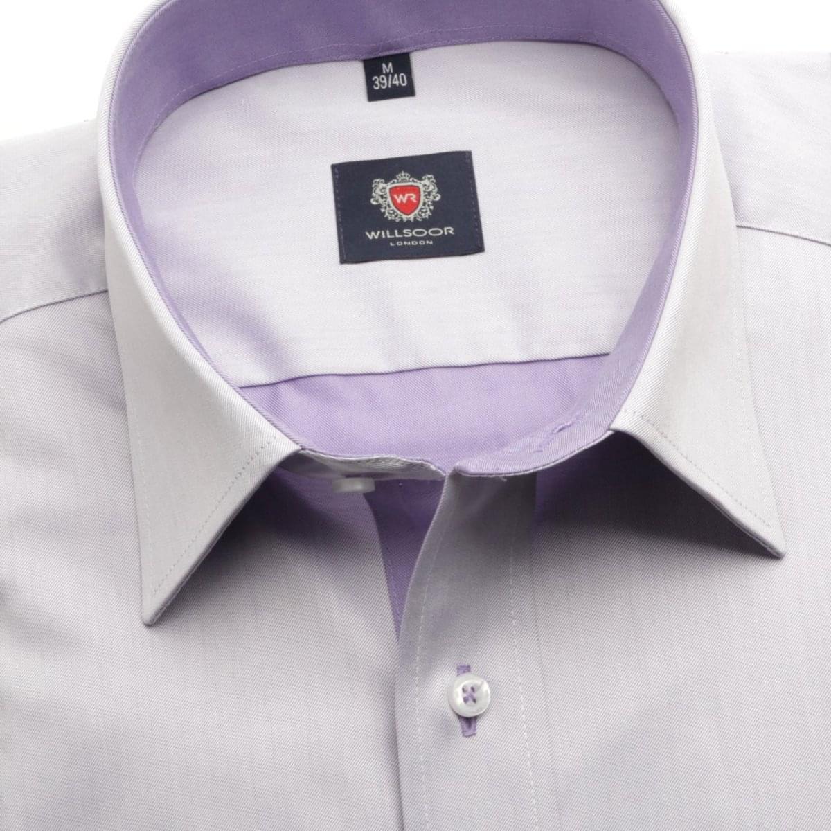 Pánská klasická košile London (výška 164-170) 5957 ve fialkové barvě s formulí Easy Care 164-170 / L (41/42)