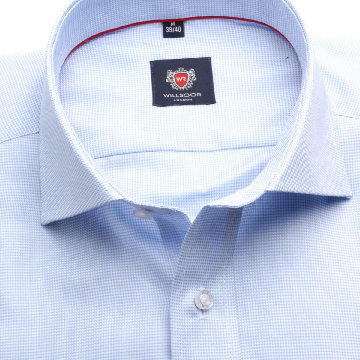 Pánská klasická košile London (výška 176-182) 5964 v modré barvě s formulí Easy Care 176-182 / L (41/42)