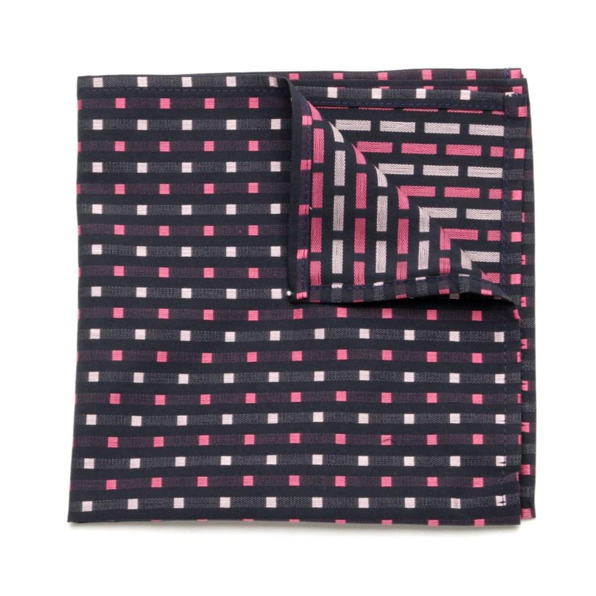 Pánský kapesníček do klopy Willsoor (vzor 104) 5990 v červené barvě