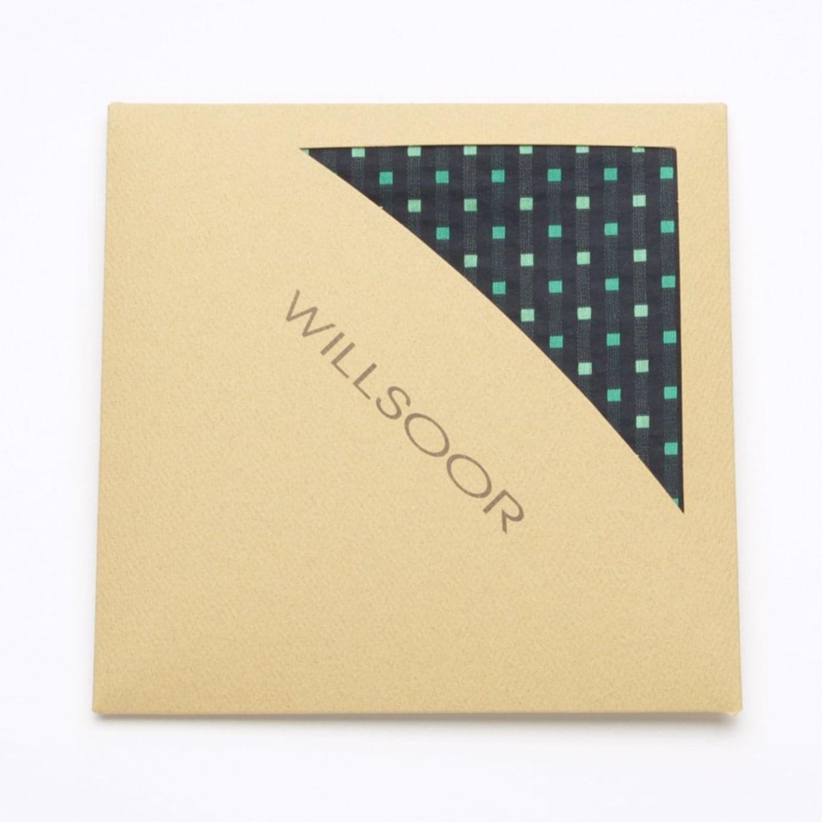 Pánský kapesníček do klopy Willsoor (vzor 107) 5993 v černé barvě