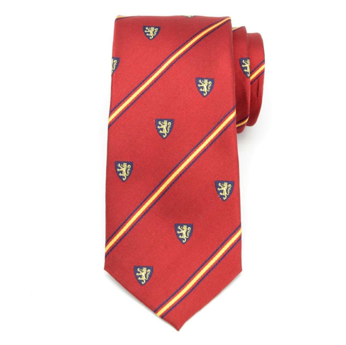Pánská hedvábná kravata (vzor 328) 6038 v červené barvě