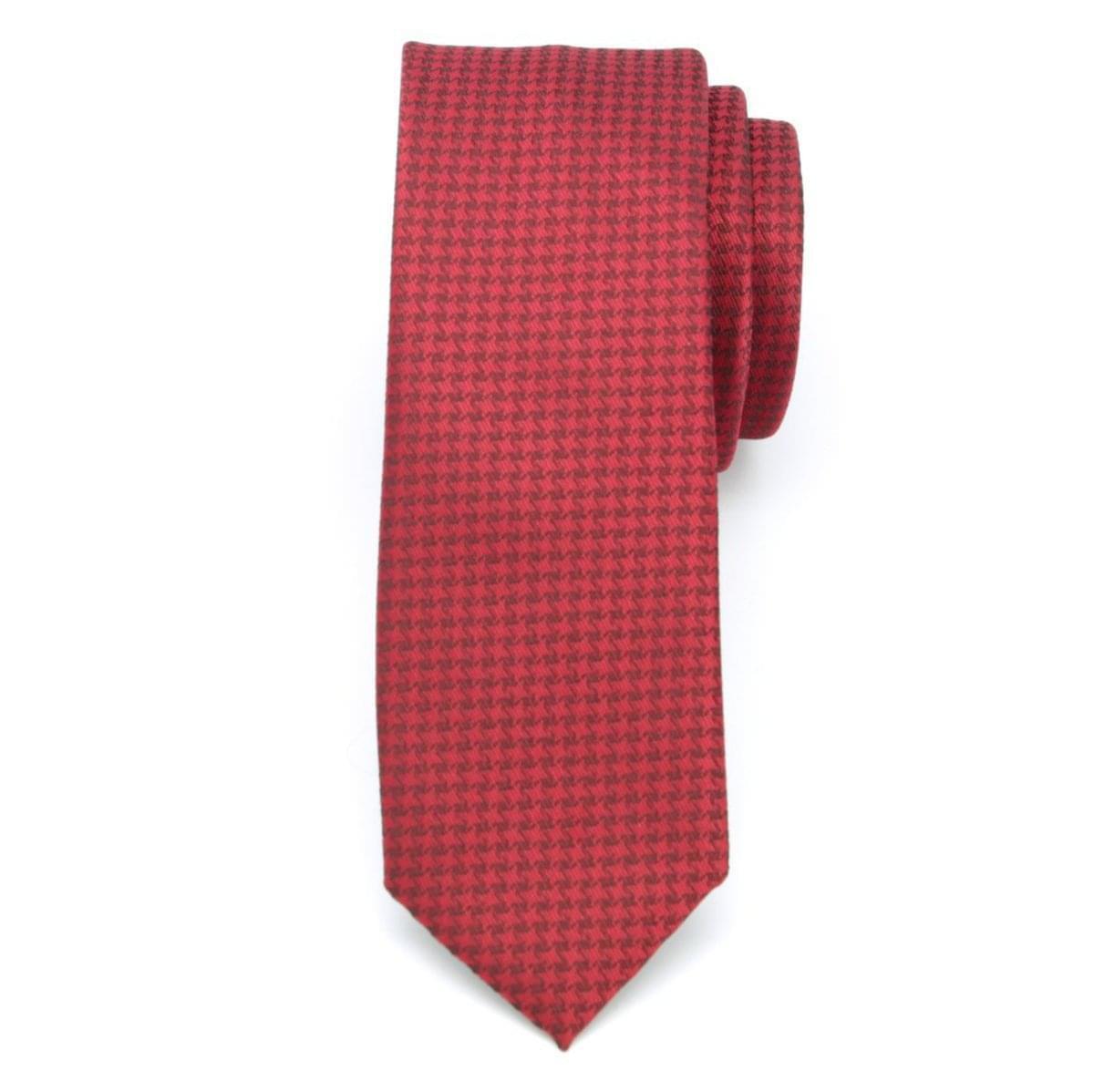 Pánská úzká kravata (vzor 1166) 6060 v červené barvě