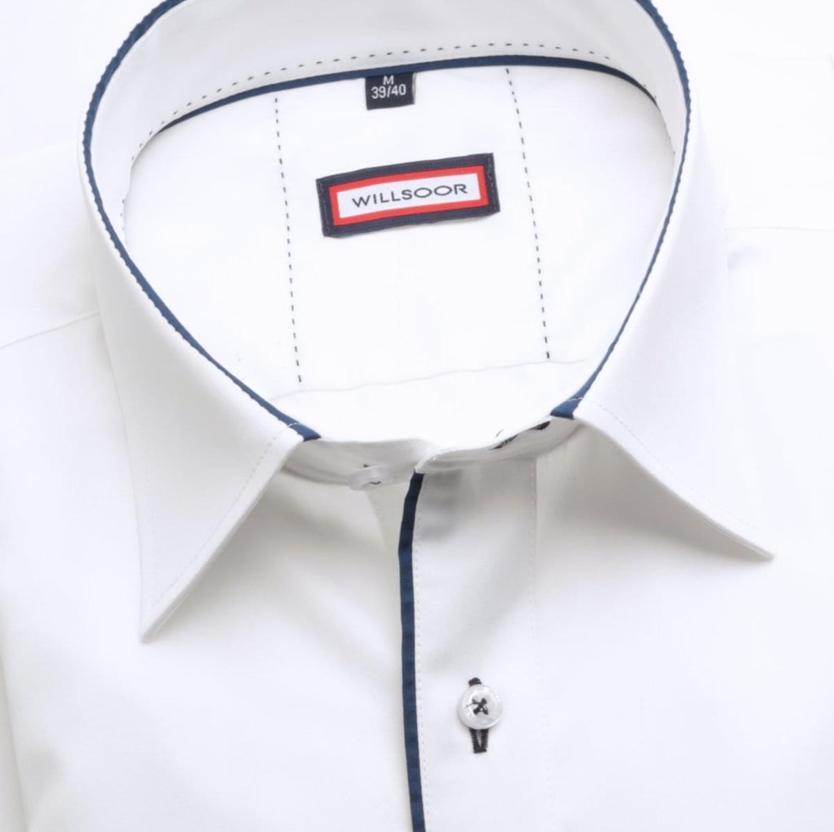 Pánská košile Slim Fit (výška 176-182) 6084 v bílé barvě s formulí Easy Care 176-182 / M (39/40)