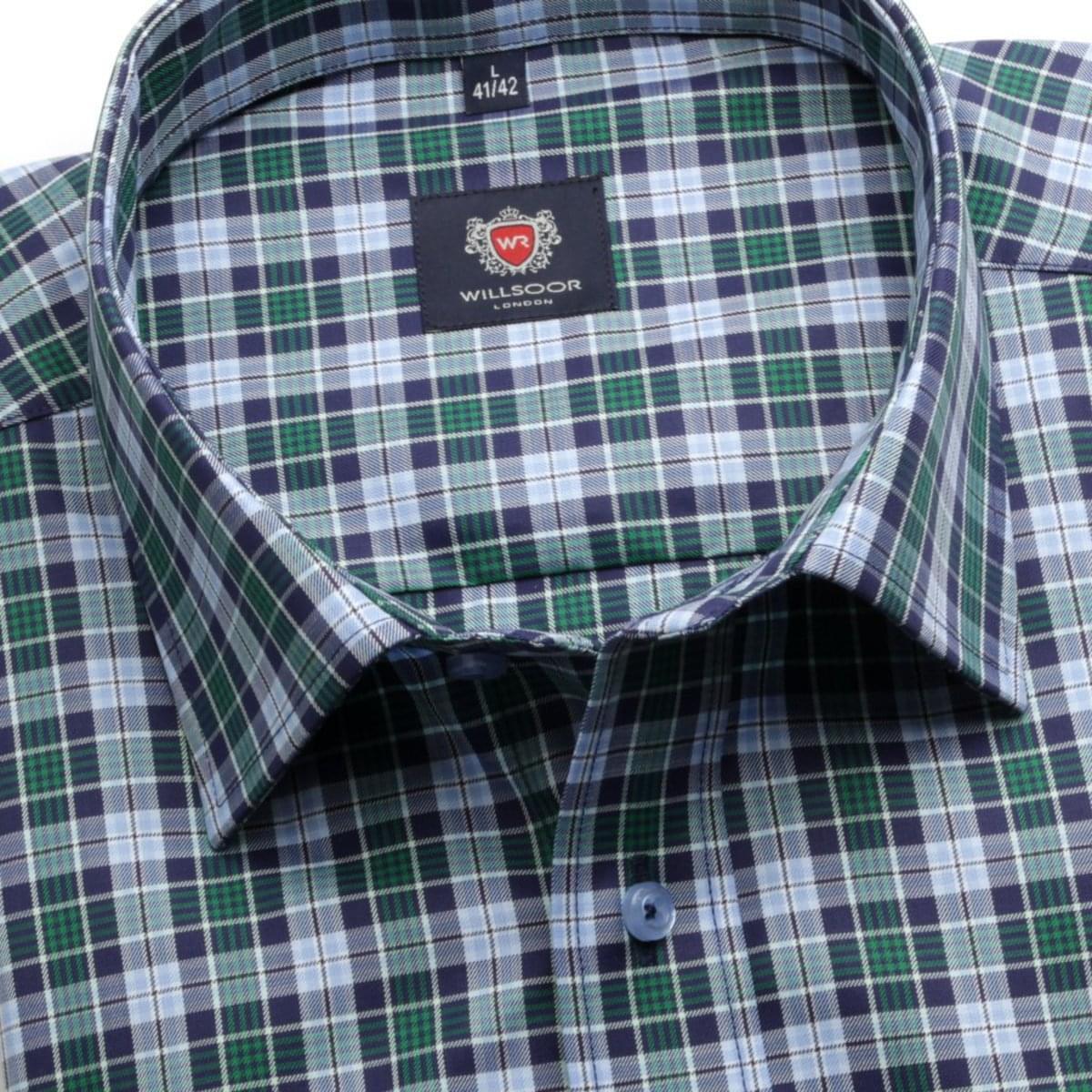 Pánská klasická košile London (výška 176-182) 6257 s barevnou kostkou a formulí Easy Care 176-182 / L (41/42)