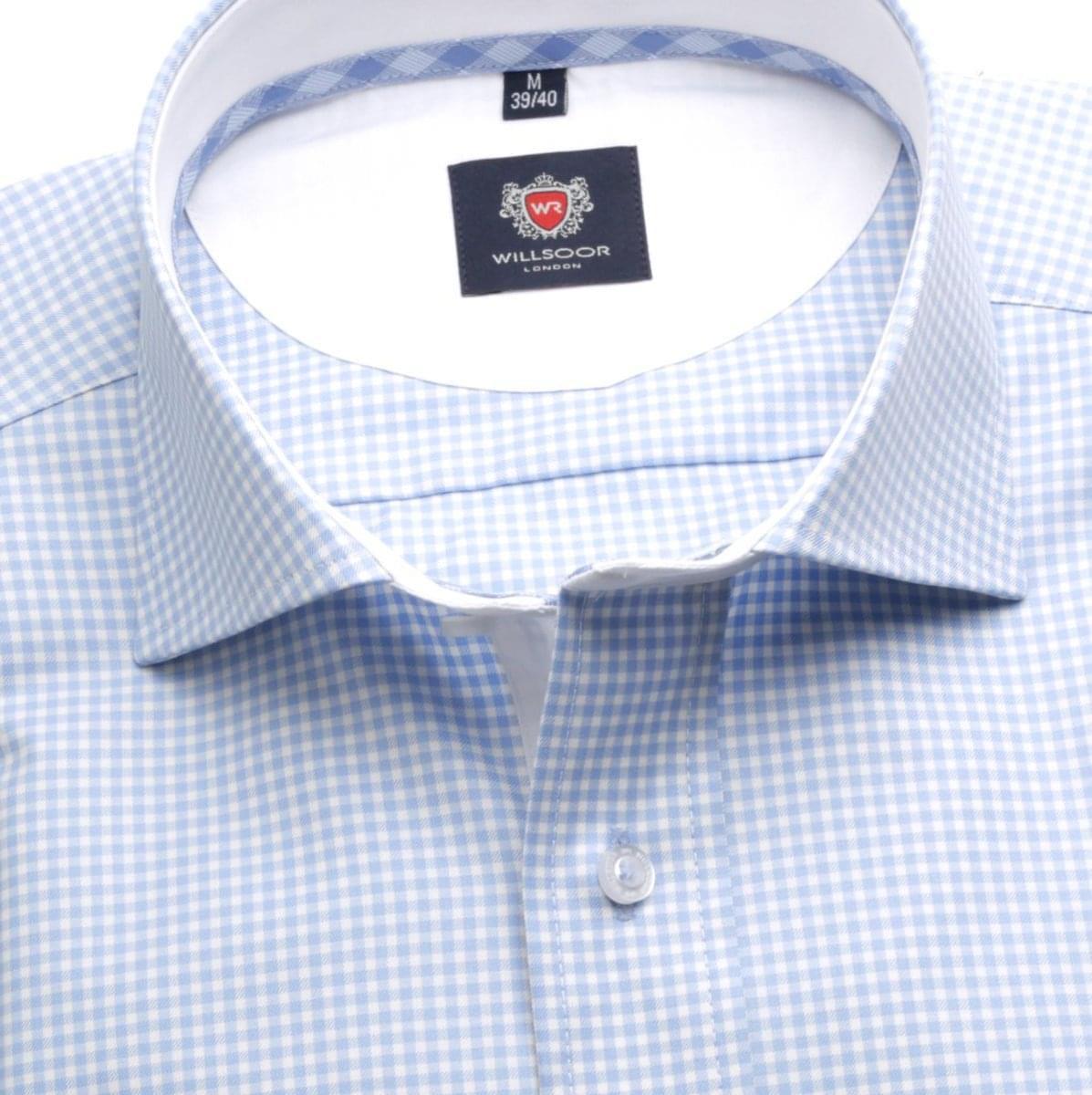 Pánská klasická košile London (výška 176-182) 6292 s jemnou kostkou a formulí Easy Care 176-182 / XL (43/44)