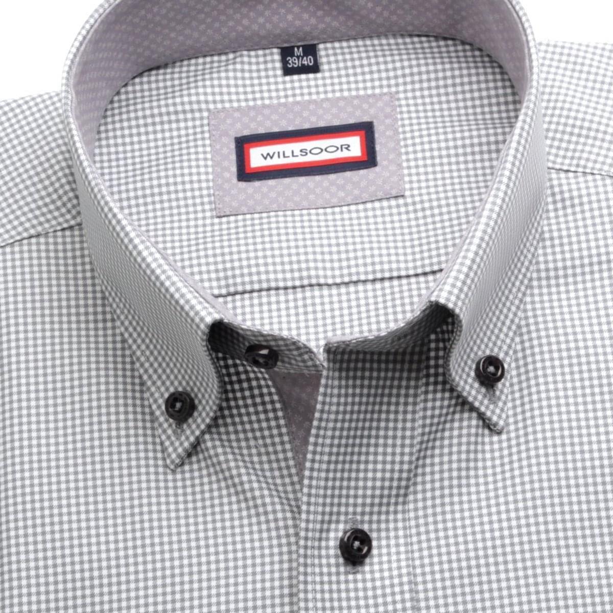 """Pánská klasická košile (výška 176-182) 6294 s """"pepito"""" vzorem a formuli Easy Care 176-182 / XL (43/44)"""