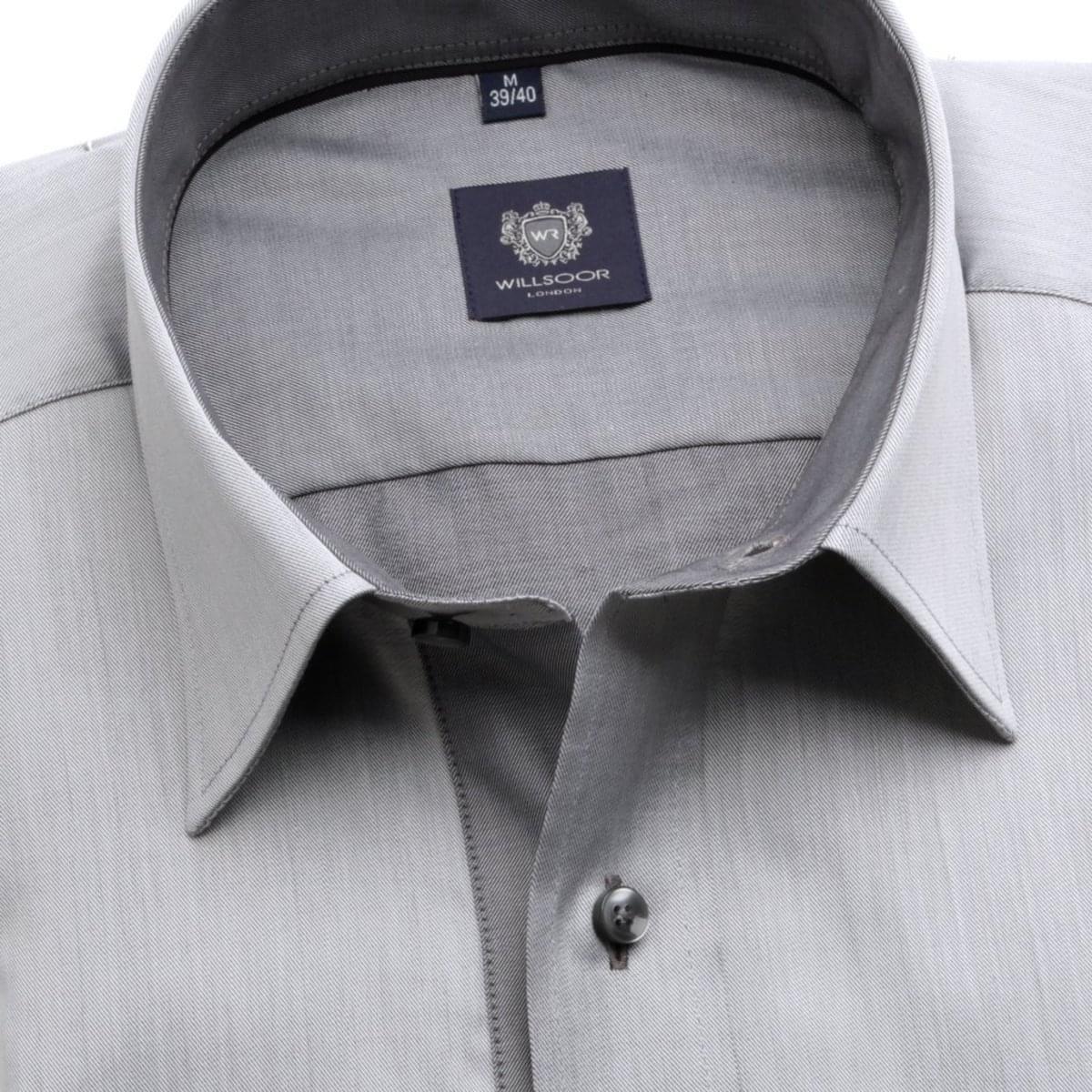 Pánská klasická košile London (výška 188-194) 6302 v šedé barvě s formulí Easy Care 188-194 / XL (43/44)