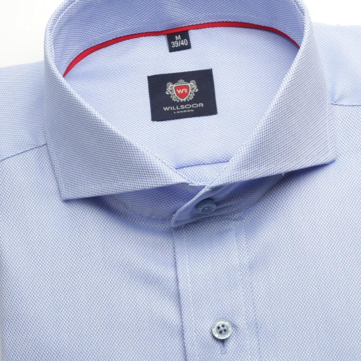 Pánská klasická košile London (výška 188-194) 6324 v modré barvě s úpravou easy care 188-194 / XL (43/44)