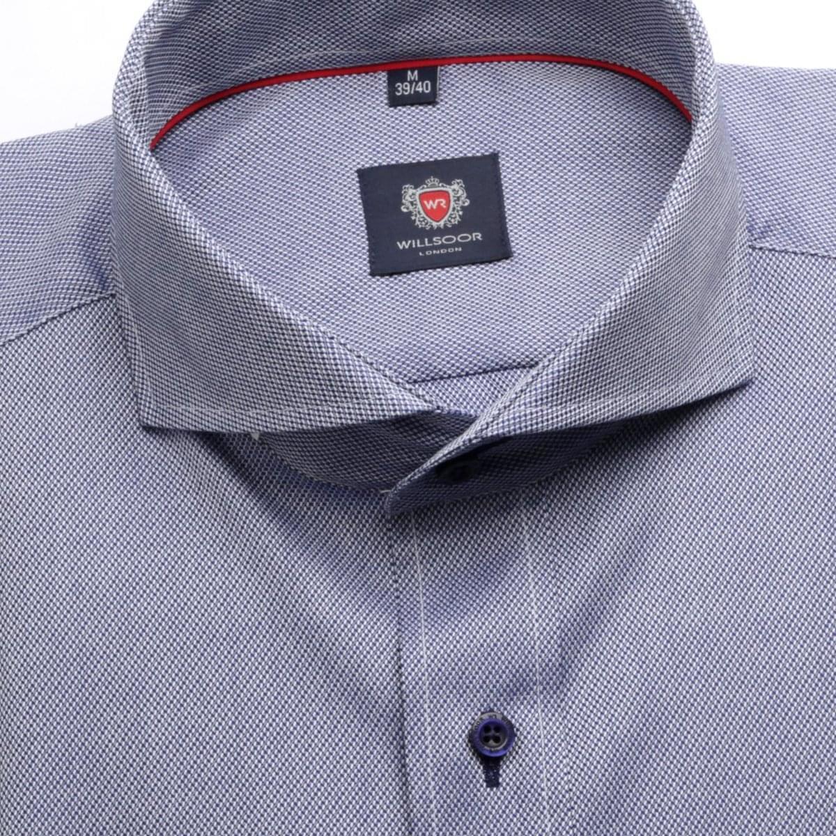 Pánská klasická košile London (výška 176-182) 6326 v modré barvě s úpravou easy care 176-182 / XL (43/44)