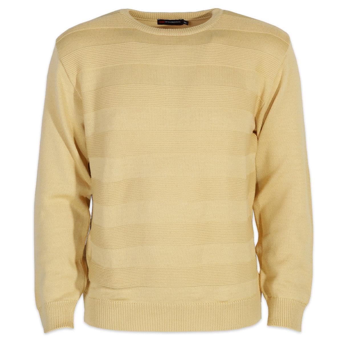Pánský svetr Salvador 6487 ve žluté barvě XXL