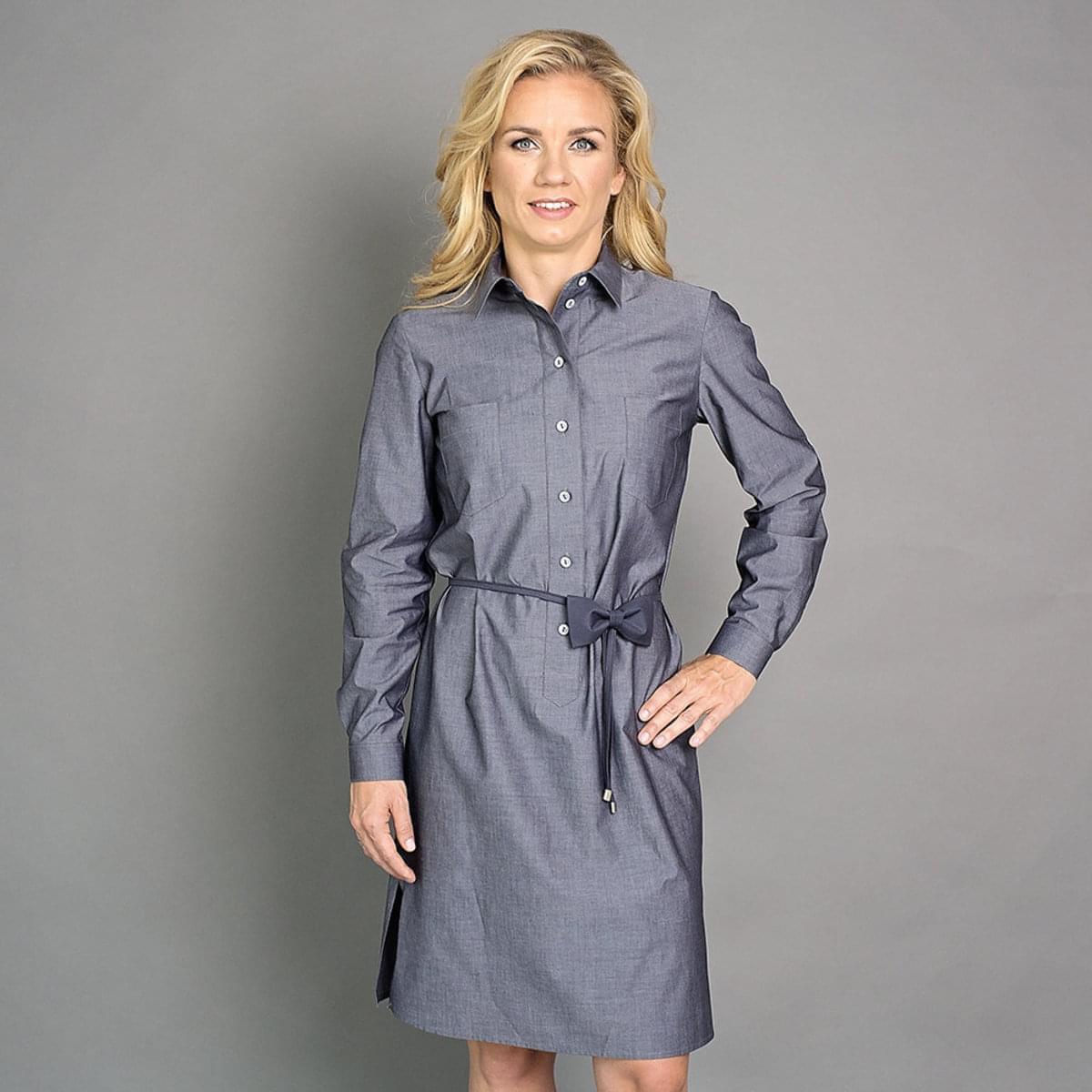 Dámské košilové šaty Safari Willsoor 6507 v antracitové barvě 42