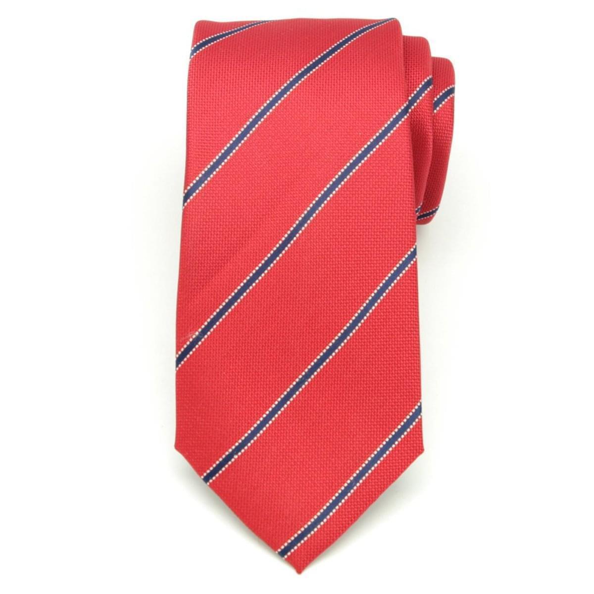 Pánská kravata z mikrovlákna (vzor 1180) 6519 v červené barvě