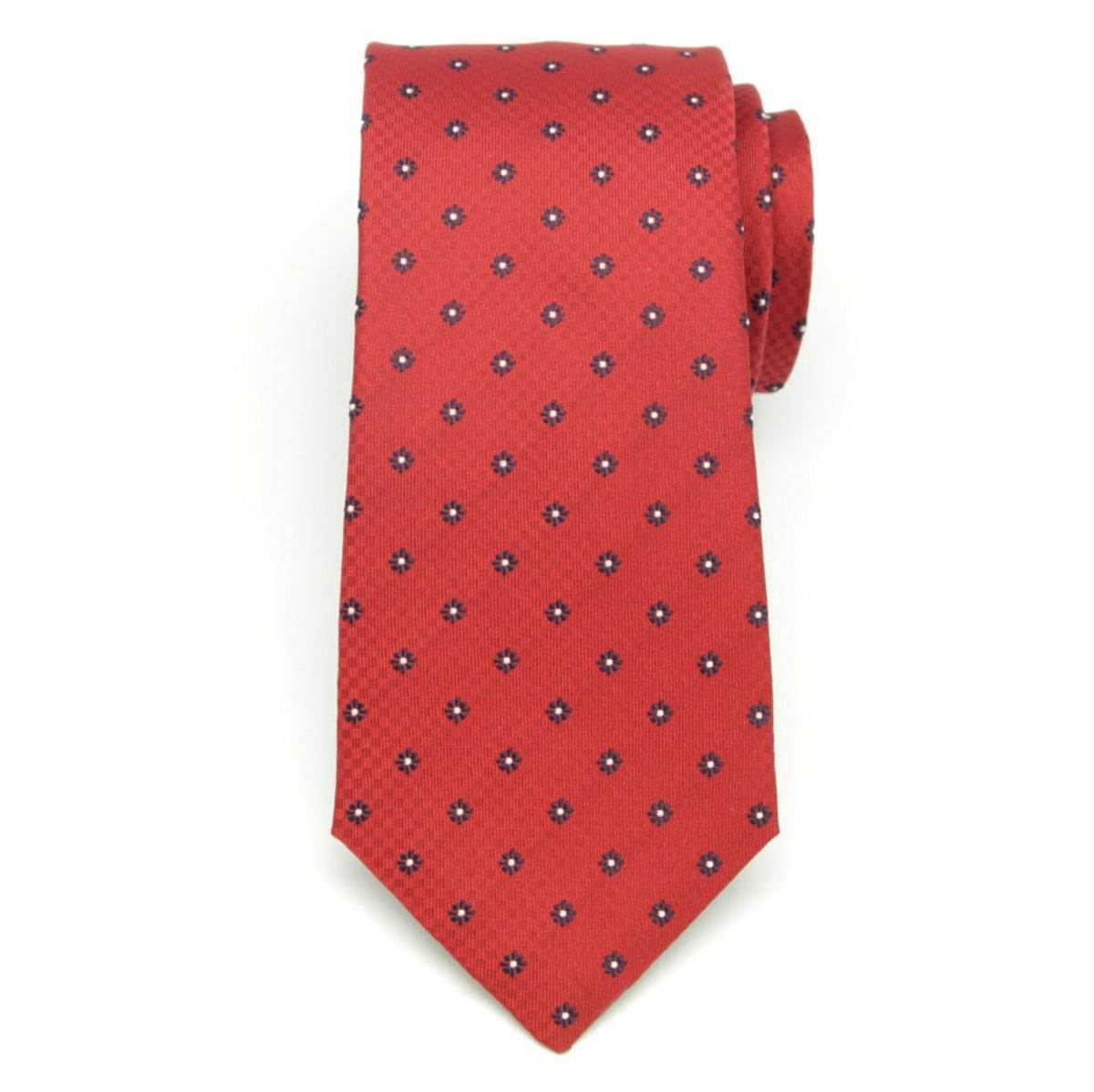 Pánská hedvábná kravata (vzor 333) 6537 v červené barvě