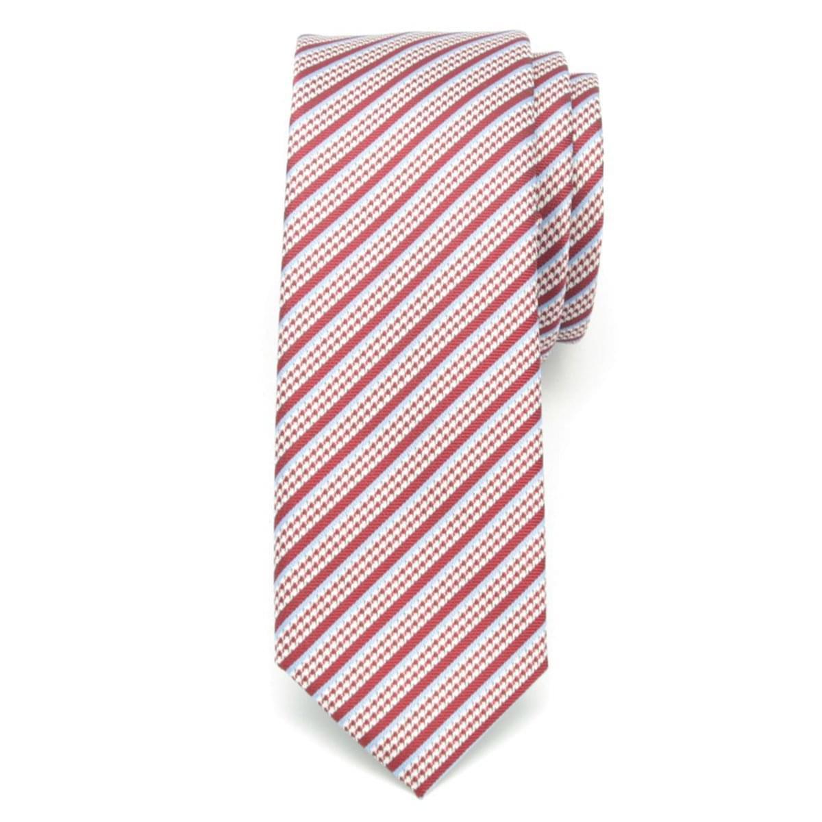 Pánská úzká kravata (vzor 1205) 6544 v červené barvě