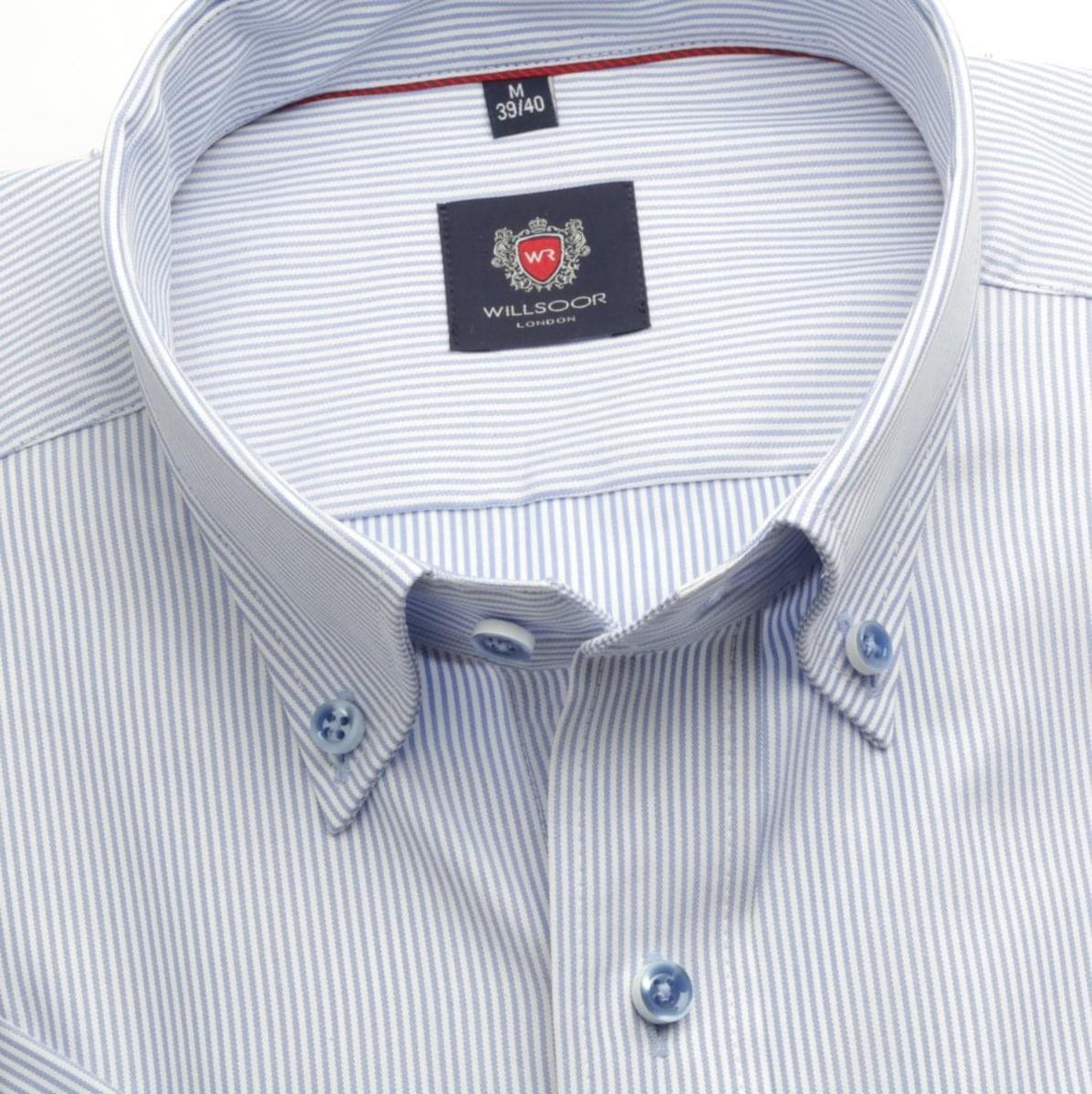 Pánská klasická košile London (výška 176-182) 6567 s jemným proužkem a formulí Easy Care 176-182 / L (41/42)