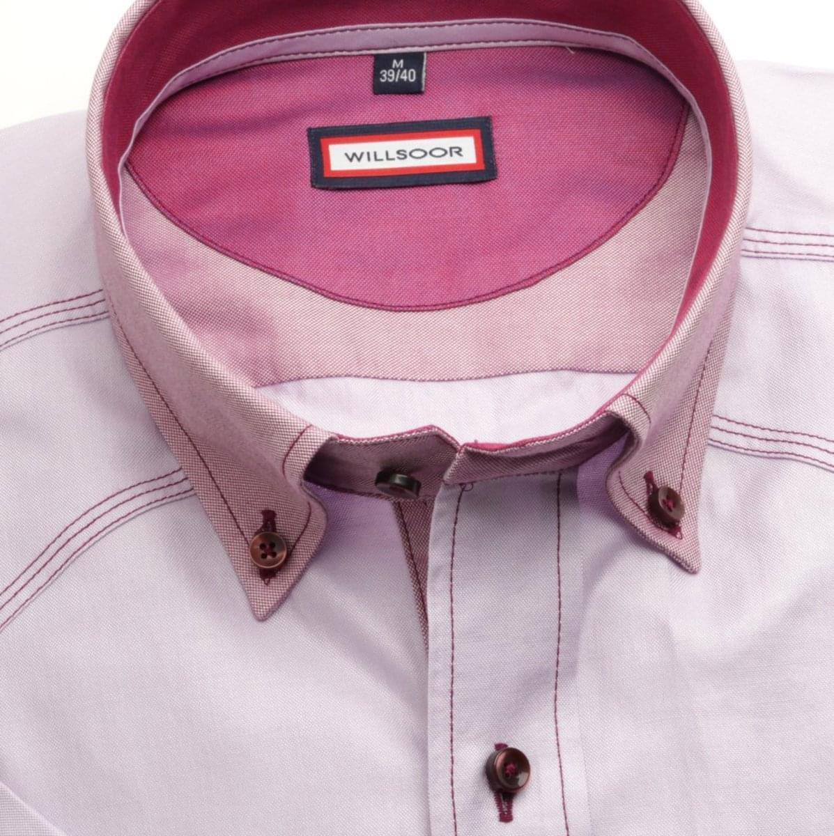 Pánská slim fit košile (výška 176-182) 6578 ve fialkové barvě 176-182 / XL (43/44)
