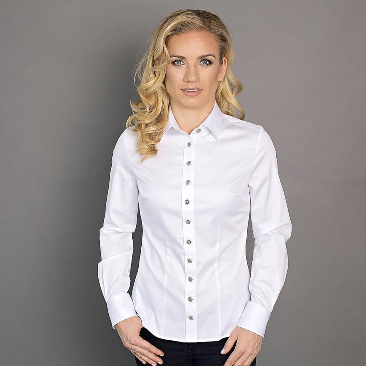 Dámská košile Willsoor 6583 v bílé barvě 34