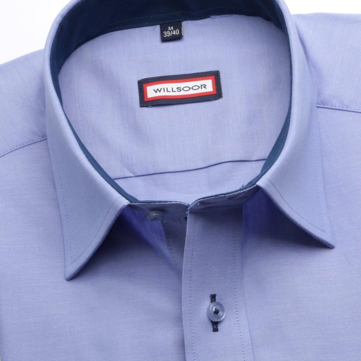 Pánská slim fit košile (výška 176-182) 6591 ve světle modré barvě 164-170 / XL (43/44) 176-182 / XL (43/44)
