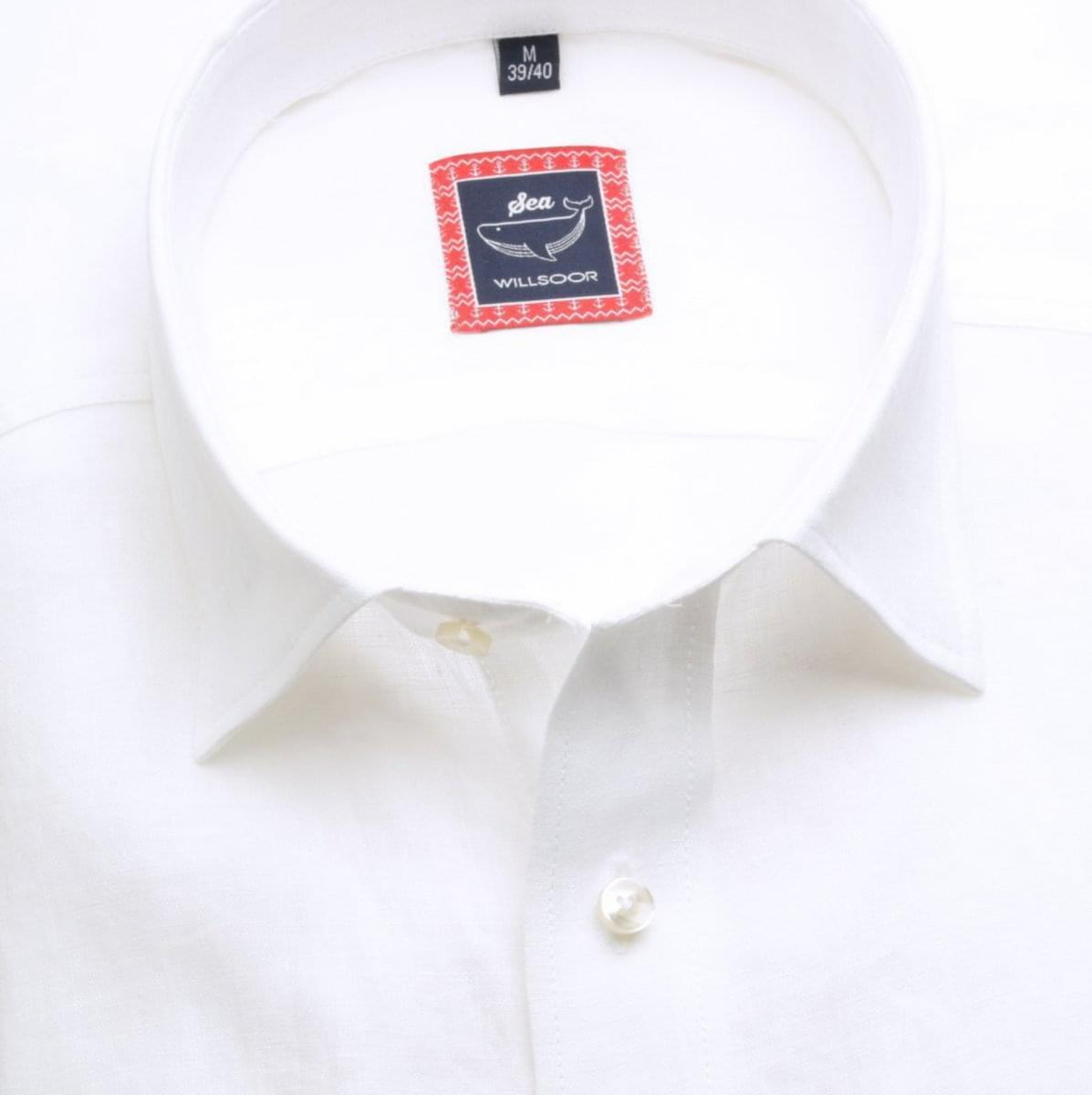 Pánská slim fit košile (výška 176-182) 6669 v bílé barvě 176-182 / XL (43/44)