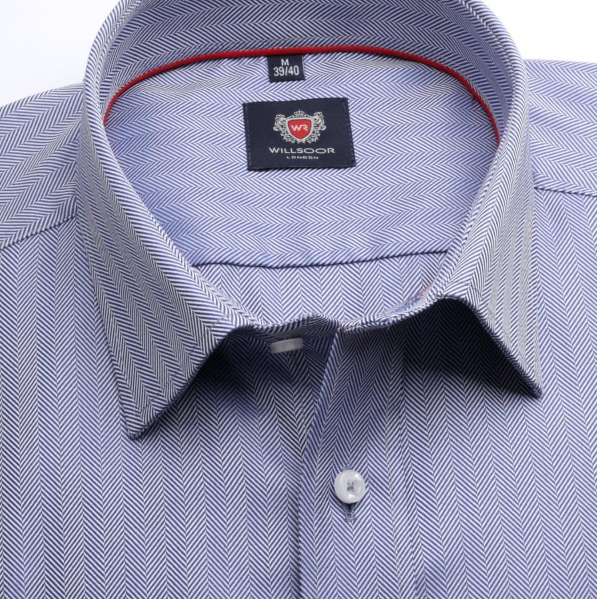 Pánská klasická košile London (výška 188-194) 6683 v modré barvě s formulí Easy Care 188-194 / XXL (45/46)