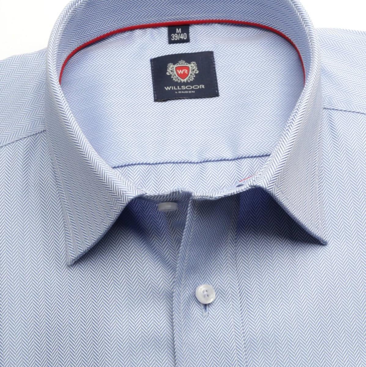 Pánská klasická košile London (výška 188-194) 6685 v modré barvě s formulí Easy Care 188-194 / XXL (45/46)