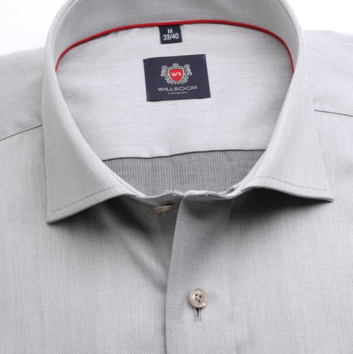 Pánská klasická košile London (výška 188-194) 6697 v šedé barvě s formulí Easy Care. 188-194 / XL (43/44)