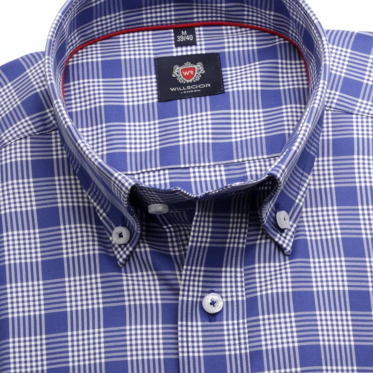Pánská klasická košile London (výška 188-194) 6707 v modré barvě s formulí Easy Care 188-194 / XL (43/44)