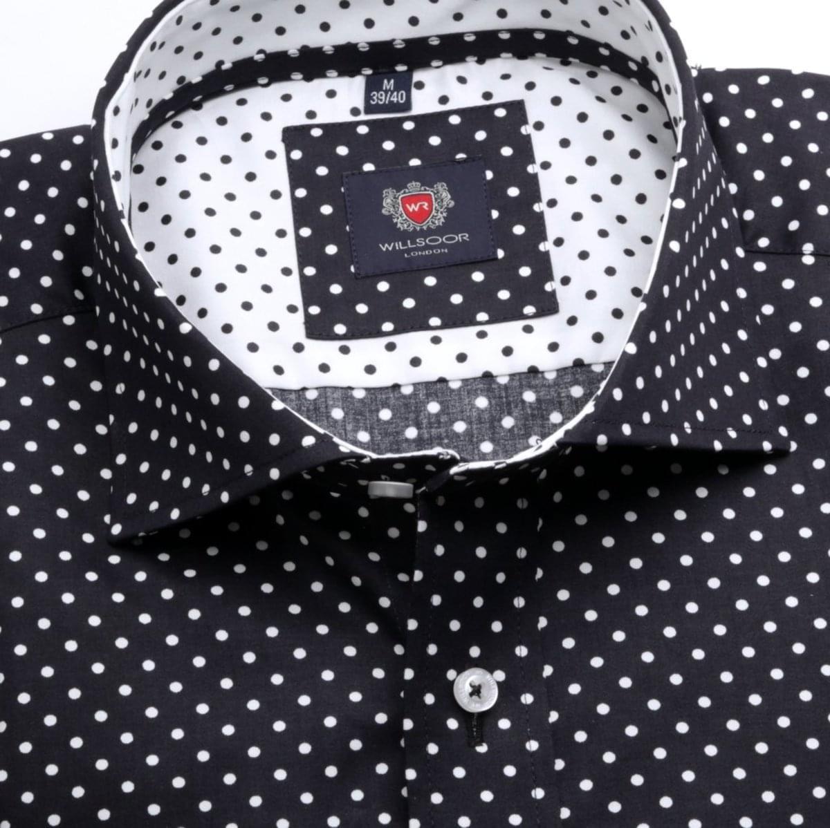 Pánská klasická košile London (výška 176-182) 6728 v černé barvě 176-182 / XL (43/44)