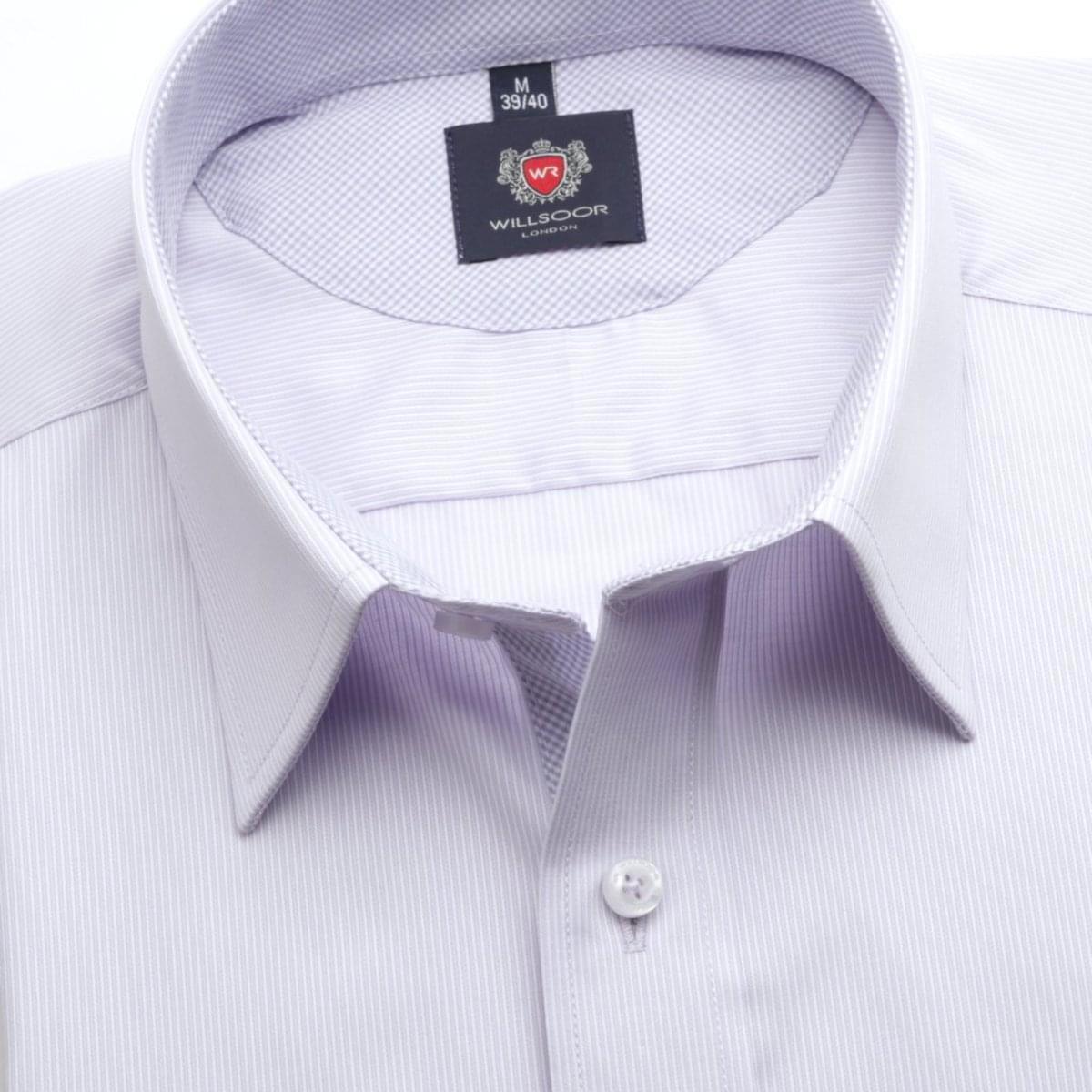 Pánská klasická košile London (výška 176-182) 6734 ve fialkové barvě s formulí Easy Care 176-182 / XL (43/44)