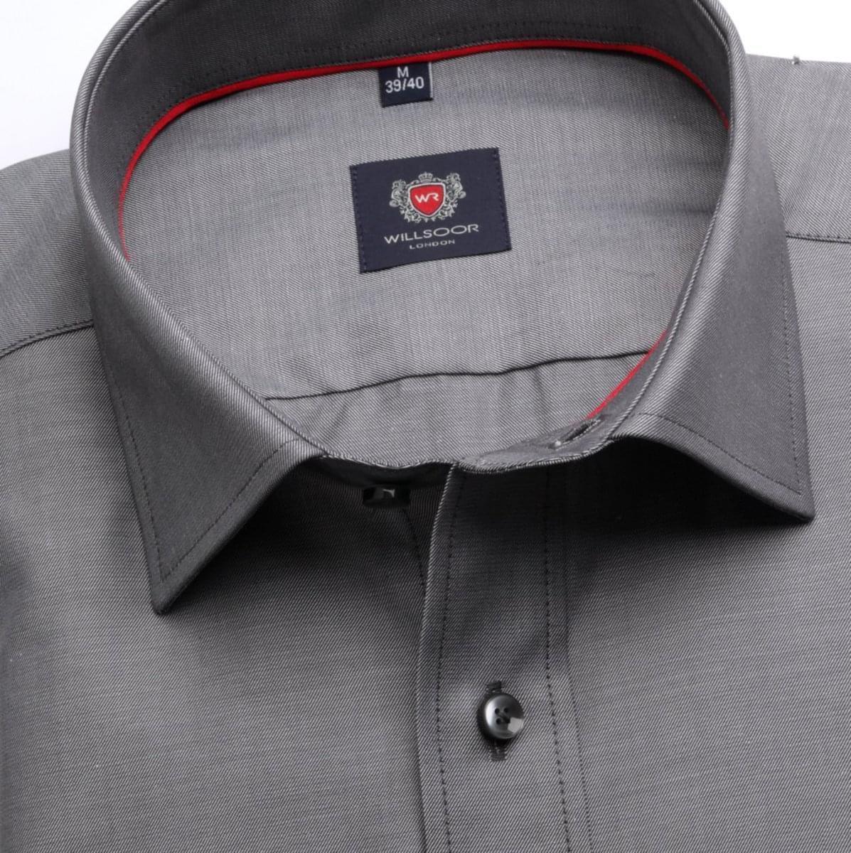 Pánská klasická košile London (výška 188-194) 6748 v šedé barvě s formulí Easy Care 188-194 / XL (43/44)