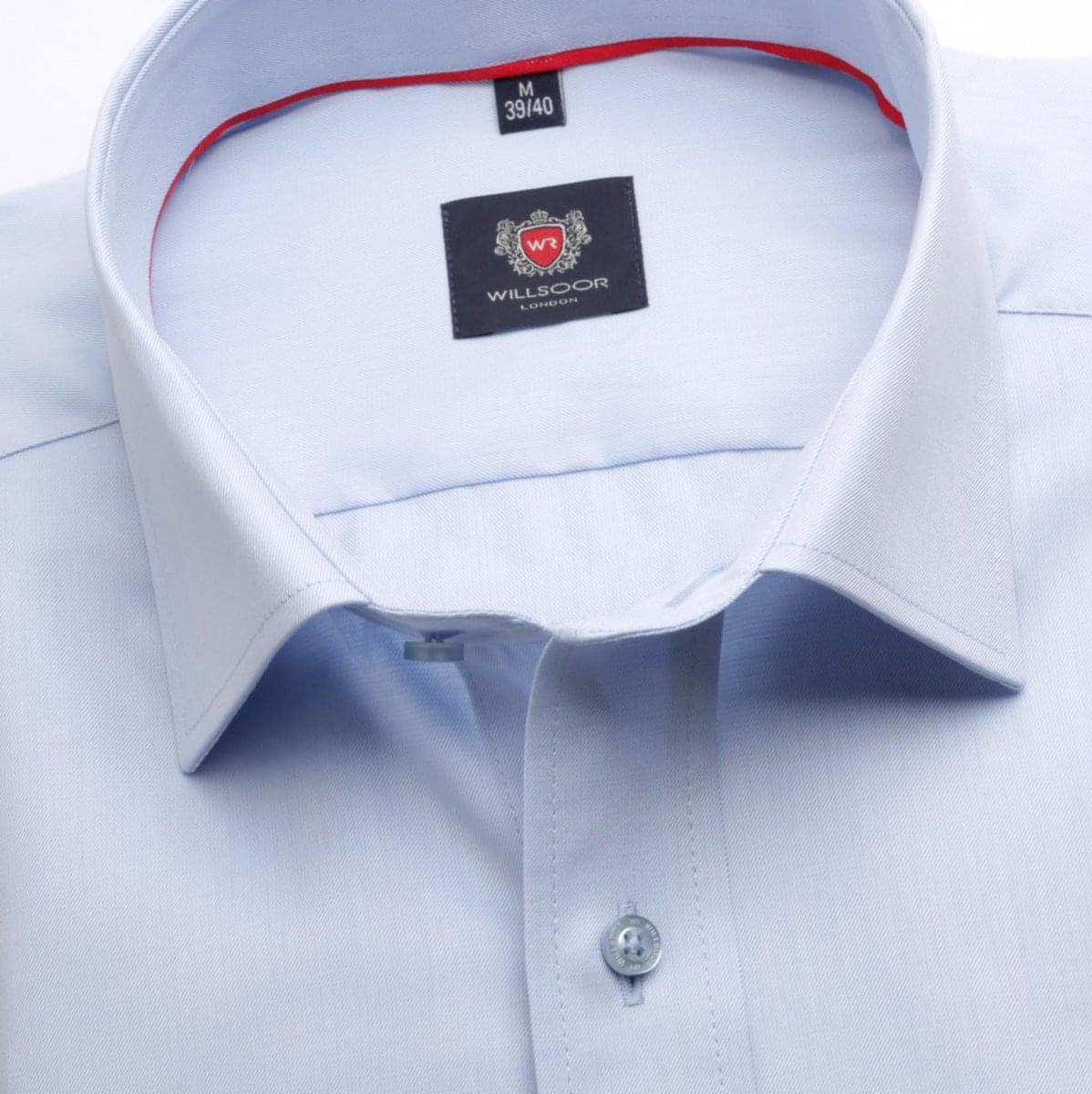 Pánská klasická košile London (výška 176-182) 6749 v modré barvě s formulí Easy Care 176-182 / L (41/42)