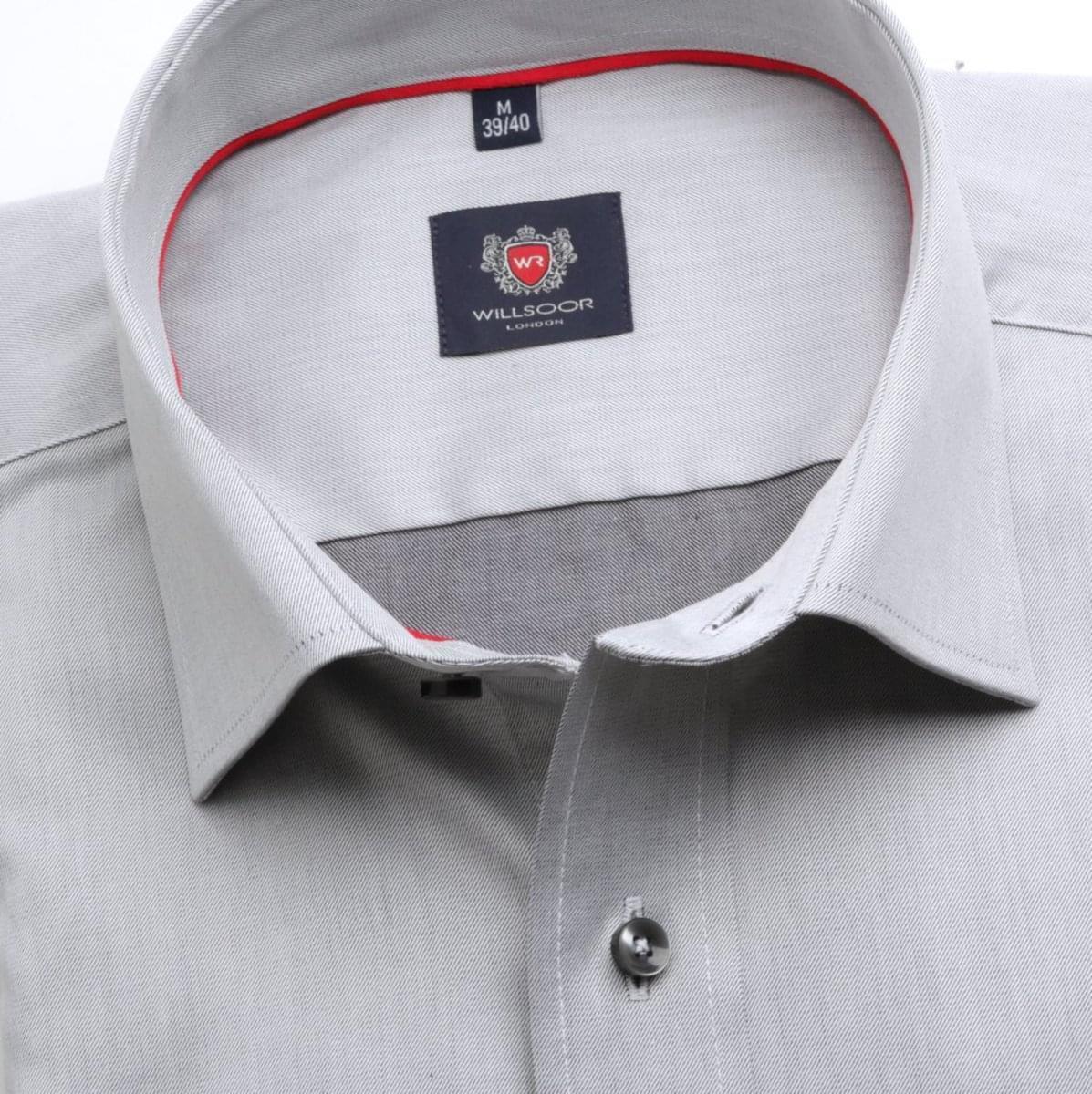 Pánská klasická košile London (výška 188-194) 6756 v šedé barvě s formulí Easy Care 188-194 / L (41/42)
