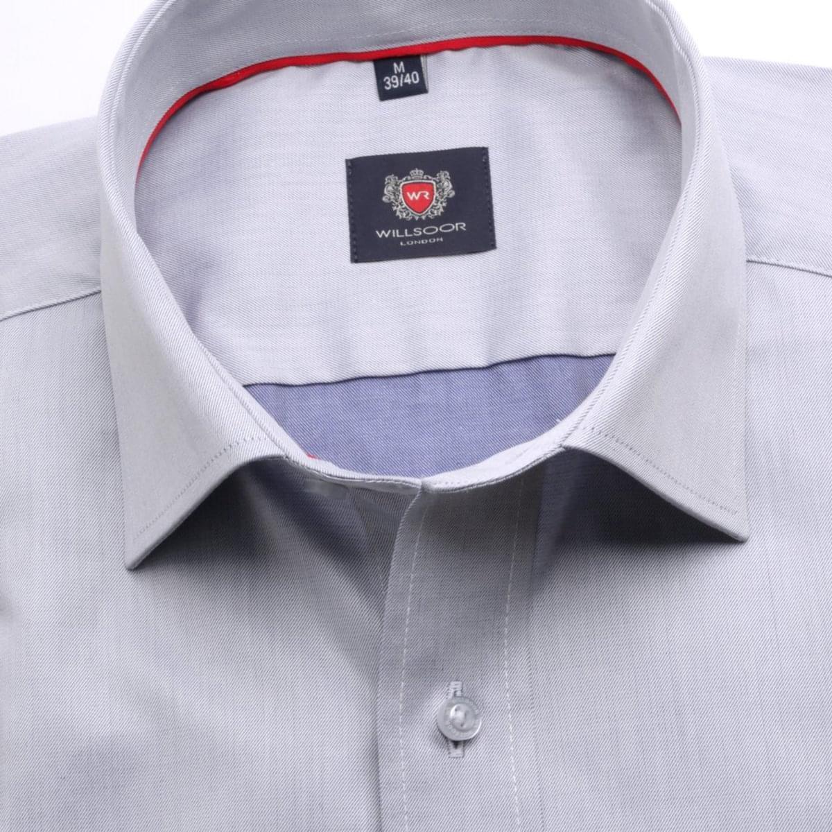 Pánská klasická košile London (výška 176-182) 6758 v šedé barvě s formulí Easy Care 176-182 / L (41/42)