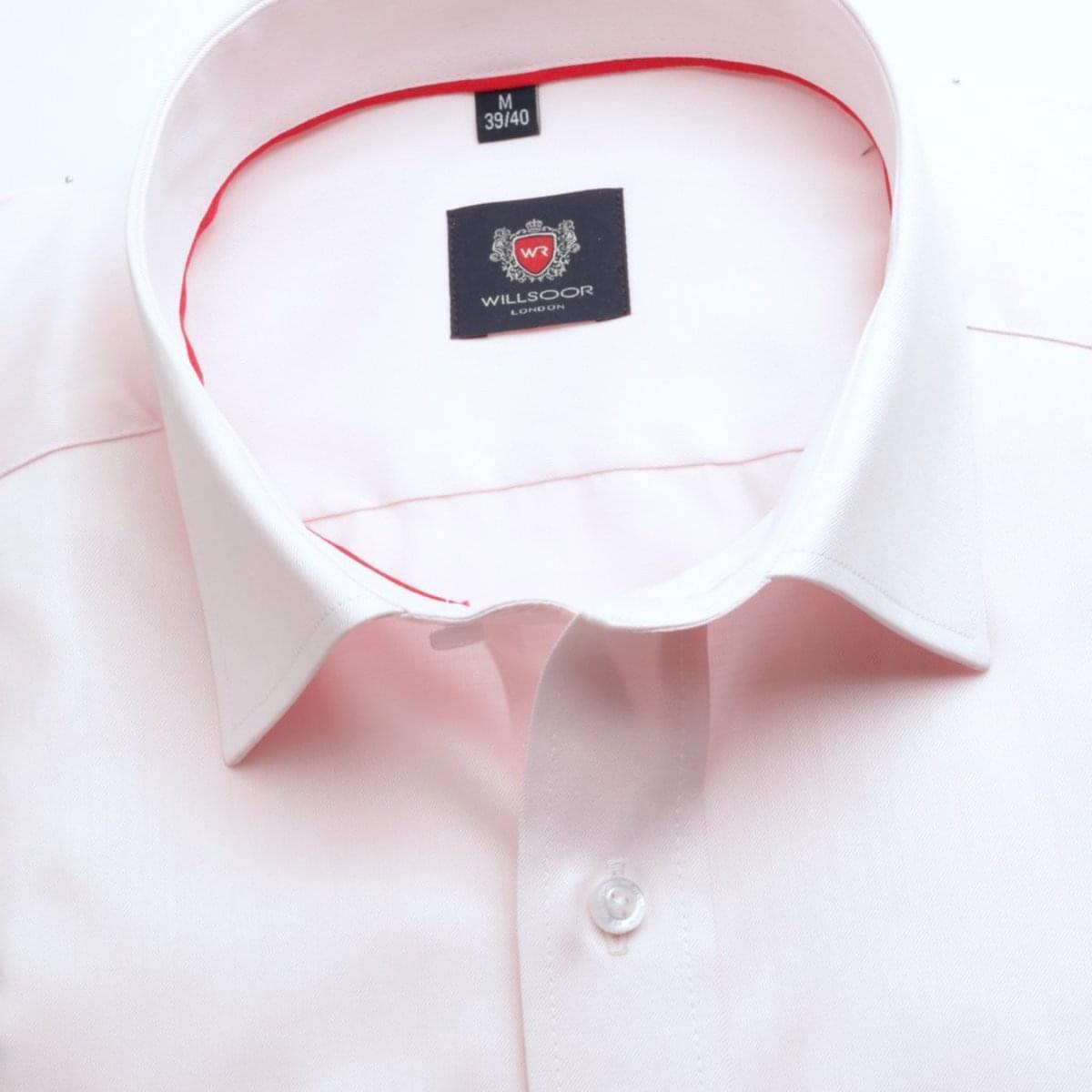 Pánská klasická košile London (výška 188-194) 6764 v růžové barvě s formulí Easy Care 188-194 / L (41/42)