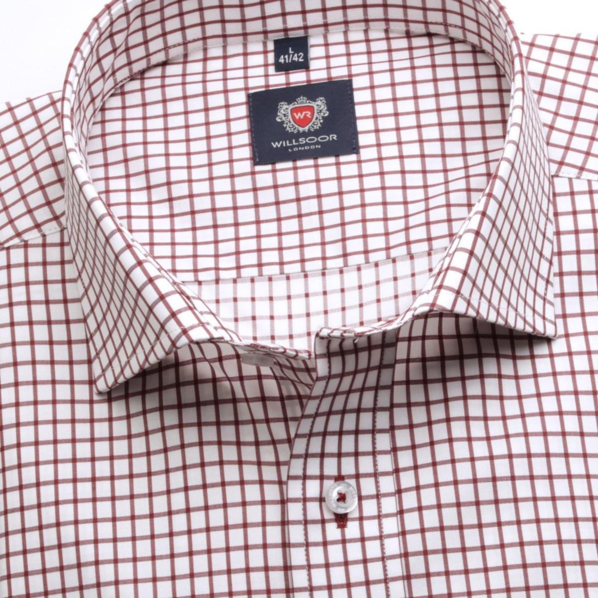 Pánská klasická košile London (výška 188-194) 6817 s kostkou a formulí Easy Care 188-194 / L (41/42)