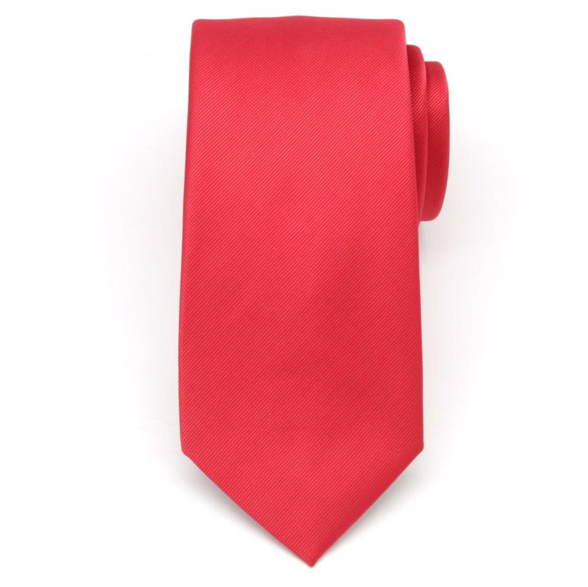 Pánská kravata z mikrovlákna (výška 1219) 6833 v červené barvě