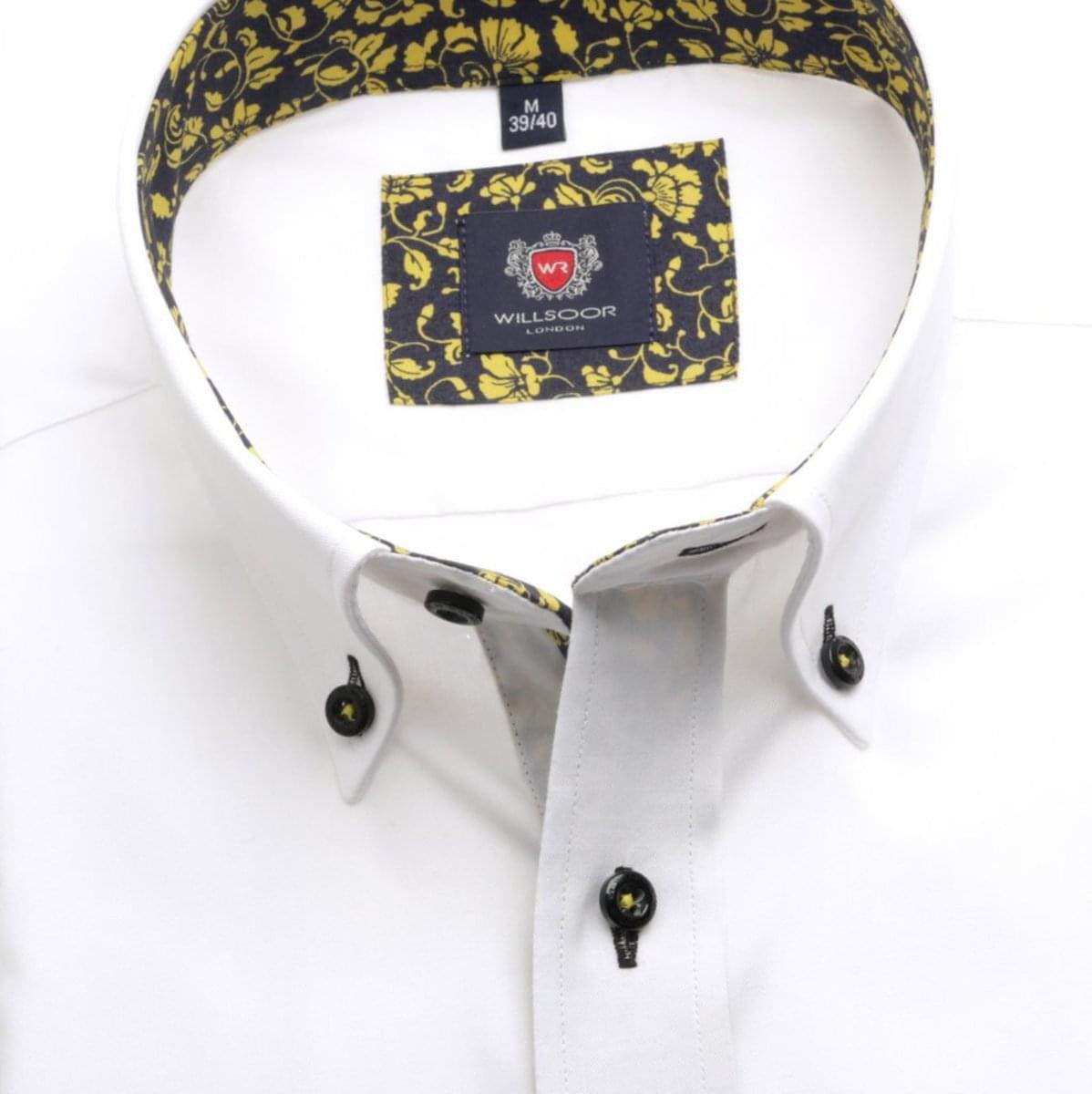 Pánská klasická košile London (výška 188-194) 6843 v bílé barvě s formulí Easy Care 188-194 / XL (43/44)