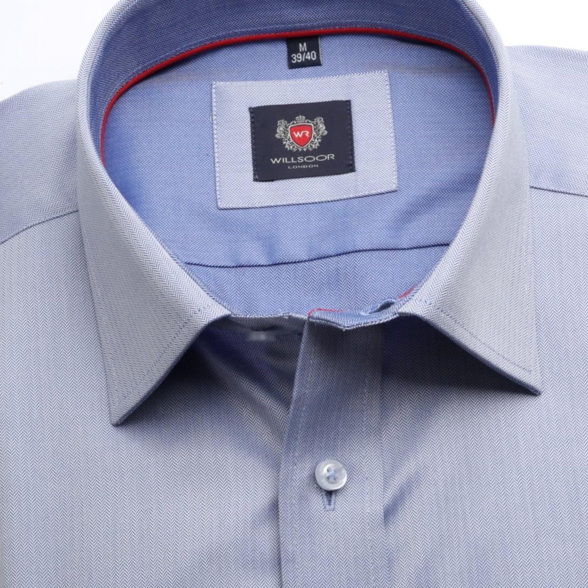 Pánská klasická košile London (výška 176-182) 6890 v modré barvě s formulí Easy Care 176-182 / L (41/42)