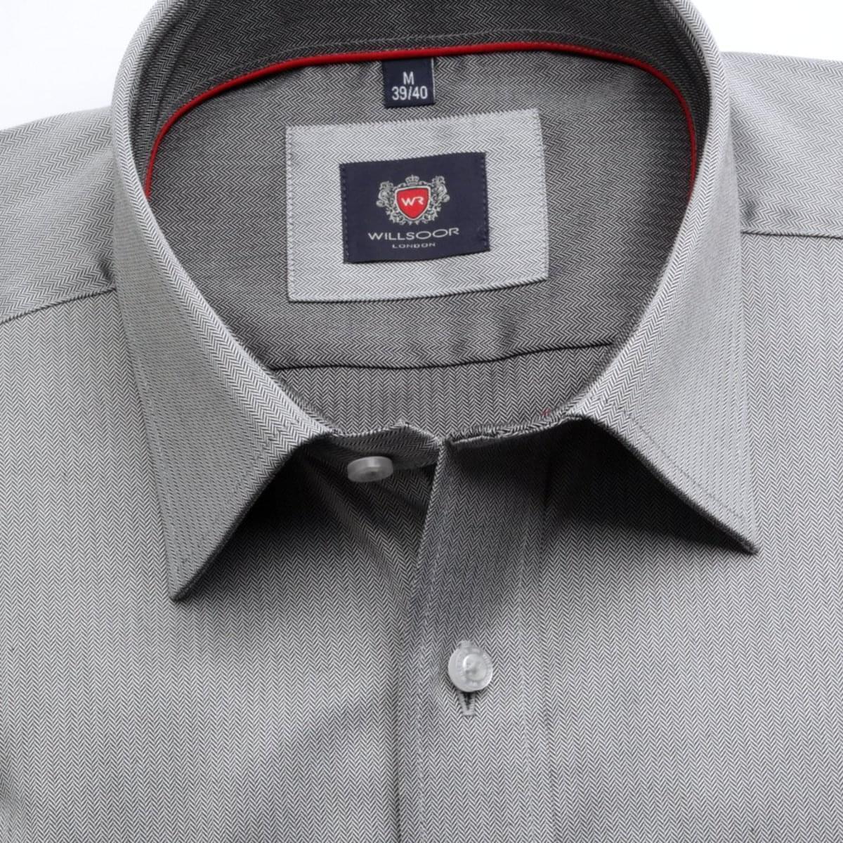 Pánská klasická košile London (výška 176-182) 6892 v šedé barvě s formulí Easy Care 176-182 / L (41/42)