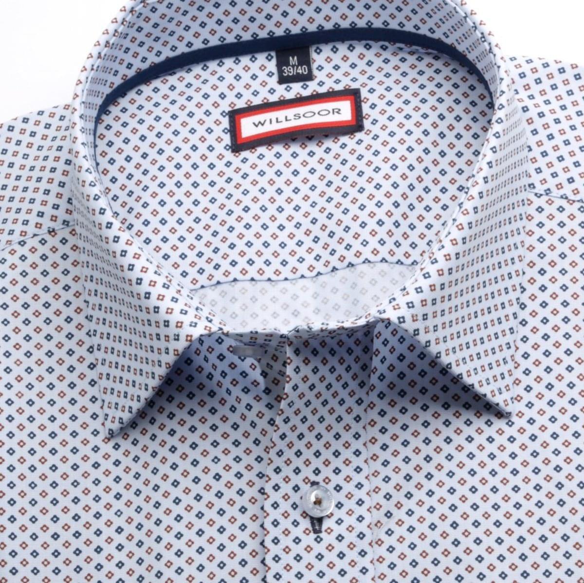 Pánská klasická košile (výška 176-182) 6970 ve světle modré barvě s formulí Easy Care 176-182 / L (41/42)