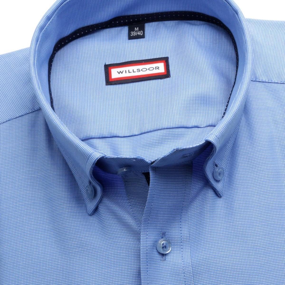 Pánská klasická košile (výška 188-194) 6988 ve světle modré barvě s formulí Easy Care 188-194 / L (41/42)