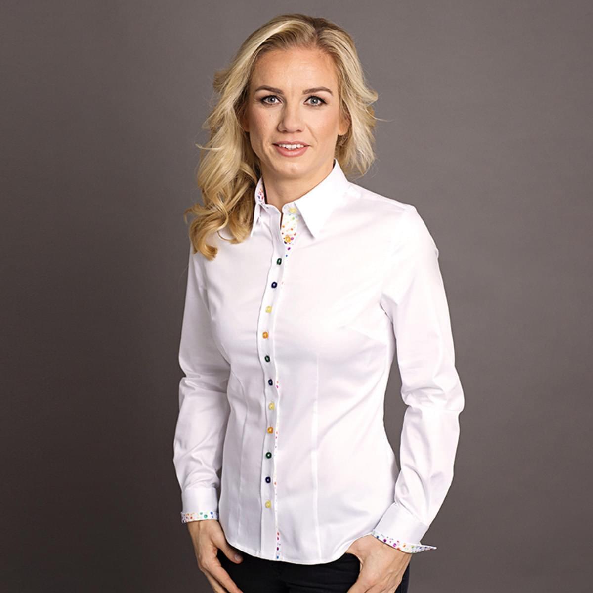 Dámská košile Willsoor 7036 v bílé barvě 34